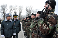 National Army Soldiers Take Military Oath