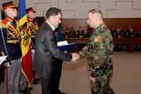 Diplomas and Medals for Service Members of KFOR-V Contingent, Recently Returned from Kosovo