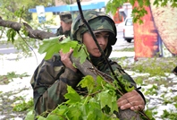 Service Members from Chisinau Garrison Continue to Clear the Access Routes in the Capital