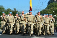 National Army Peacekeepers at the Parade in Kiev