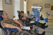 Voluntary Blood Donation Campaign in the National Army