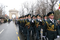 Honor Guard Service Members at the Parade in Bucharest