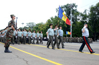 First Parade Rehearsal in Marii Adunari Nationale Square