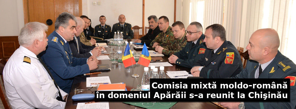 The Joint Moldovan-Romanian Defense Committee Meets in Chisinau