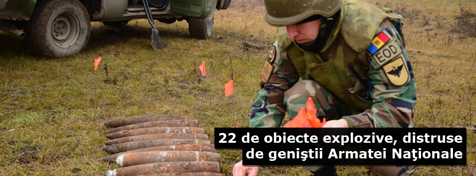 22 Explosive Objects Destroyed by National Army Engineers