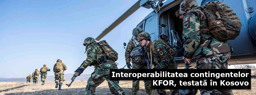 Interoperability of KFOR Contingents Tested in Kosovo